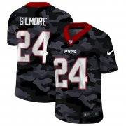 Cheap New England Patriots #24 Stephon Gilmore Men's Nike 2020 Black CAMO Vapor Untouchable Limited Stitched NFL Jersey