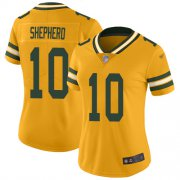 Wholesale Cheap Nike Packers #10 Darrius Shepherd Gold Women's Stitched NFL Limited Inverted Legend Jersey