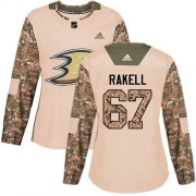 Wholesale Cheap Adidas Ducks #67 Rickard Rakell Camo Authentic 2017 Veterans Day Women's Stitched NHL Jersey