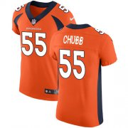 Wholesale Cheap Nike Broncos #55 Bradley Chubb Orange Team Color Men's Stitched NFL Vapor Untouchable Elite Jersey