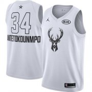 Cheap Youth Milwaukee Bucks #34 Giannis Antetokounmpo White NBA Jordan Swingman 2018 All-Star Game Jersey