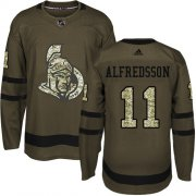 Wholesale Cheap Adidas Senators #11 Daniel Alfredsson Green Salute to Service Stitched Youth NHL Jersey