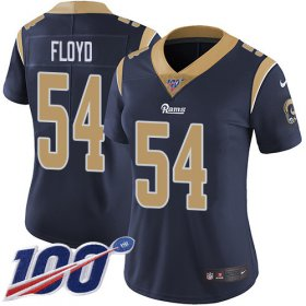 Wholesale Cheap Nike Rams #54 Leonard Floyd Navy Blue Team Color Women\'s Stitched NFL 100th Season Vapor Untouchable Limited Jersey