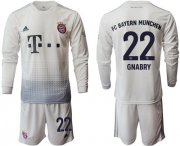 Wholesale Cheap Bayern Munchen #22 Gnabry Away Long Sleeves Soccer Club Jersey