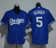 Wholesale Cheap Dodgers #5 Corey Seager Blue Cool Base Stitched Youth MLB Jersey