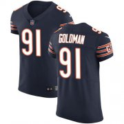 Wholesale Cheap Nike Bears #91 Eddie Goldman Navy Blue Team Color Men's Stitched NFL Vapor Untouchable Elite Jersey