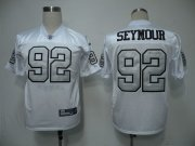 Wholesale Cheap Raiders #92 Richard Seymour White Silver Grey No. Stitched NFL Jersey