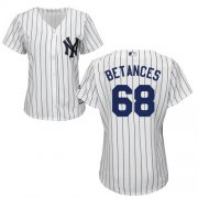 Wholesale Cheap Yankees #68 Dellin Betances White Strip Home Women's Stitched MLB Jersey