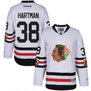 Wholesale Cheap Blackhawks #38 Ryan Hartman White 2017 Winter Classic Stitched Youth NHL Jersey