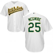 Wholesale Cheap Athletics #25 Mark McGwire White Cool Base Stitched Youth MLB Jersey