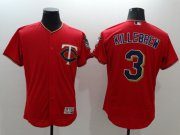 Wholesale Cheap Twins #3 Harmon Killebrew Red Flexbase Authentic Collection Stitched MLB Jersey