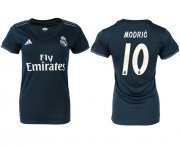 Wholesale Cheap Women's Real Madrid #10 Modric Away Soccer Club Jersey