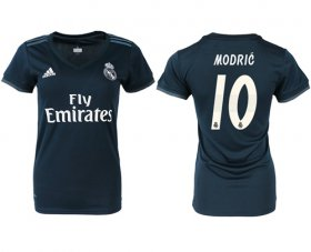 Wholesale Cheap Women\'s Real Madrid #10 Modric Away Soccer Club Jersey