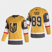 Cheap Vegas Golden Knights #89 Alex Tuch Men's Adidas 2020-21 Authentic Player Alternate Stitched NHL Jersey Gold