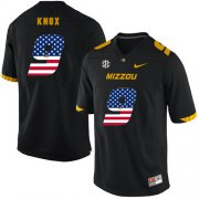 Wholesale Cheap Missouri Tigers 9 Jalen Knox Black USA Flag Nike College Football Jersey