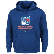 Wholesale Cheap New York Rangers Majsetic Critical Victory VIII Pullover Hoodie Royal Blue