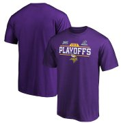 Wholesale Cheap Minnesota Vikings 2019 NFL Playoffs Bound Chip Shot T-Shirt Purple
