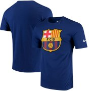 Wholesale Cheap Barcelona Nike QT T-Shirt Blue
