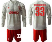 Wholesale Cheap Juventus #33 Bernardeschi Away Long Sleeves Soccer Club Jersey