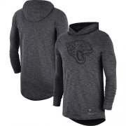 Wholesale Cheap Nike Jacksonville Jaguars Heathered Charcoal Fan Gear Tonal Slub Hooded Long Sleeve T-Shirt