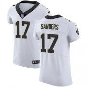 Wholesale Cheap Nike Saints #17 Emmanuel Sanders White Men's Stitched NFL New Elite Jersey