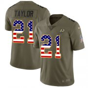 Wholesale Cheap Nike Redskins #21 Sean Taylor Olive/USA Flag Youth Stitched NFL Limited 2017 Salute to Service Jersey