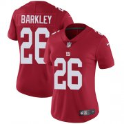 Wholesale Cheap Nike Giants #26 Saquon Barkley Red Alternate Women's Stitched NFL Vapor Untouchable Limited Jersey