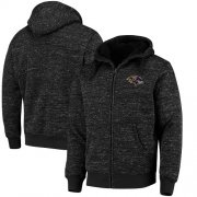 Wholesale Cheap Men's Baltimore Ravens G-III Sports by Carl Banks Heathered Black Discovery Sherpa Full-Zip Jacket