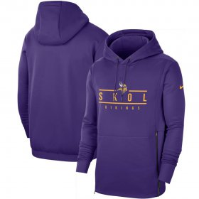 Wholesale Cheap Minnesota Vikings Nike Sideline Local Performance Pullover Hoodie Purple