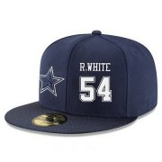 Wholesale Cheap Dallas Cowboys #54 Randy White Snapback Cap NFL Player Navy Blue with White Number Stitched Hat