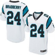 Wholesale Cheap Nike Panthers #24 James Bradberry White Men's Stitched NFL Elite Jersey