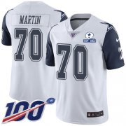 Wholesale Cheap Nike Cowboys #70 Zack Martin White Men's Stitched With Established In 1960 Patch NFL Limited Rush 100th Season Jersey