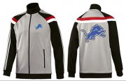 Wholesale Cheap NFL Detroit Lions Team Logo Jacket Grey