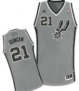 Wholesale Cheap San Antonio Spurs #21 Tim Duncan Gray Swingman Jersey