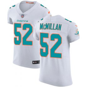 Wholesale Cheap Nike Dolphins #52 Raekwon McMillan White Men\'s Stitched NFL Vapor Untouchable Elite Jersey