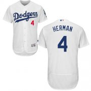 Wholesale Cheap Dodgers #4 Babe Herman White Flexbase Authentic Collection Stitched MLB Jersey