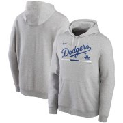 Wholesale Cheap Los Angeles Dodgers Nike Color Bar Club Pullover Hoodie Gray
