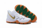 Wholesale Cheap Nike Kyire 5 White Green Godl-logo