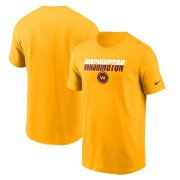 Wholesale Cheap Washington Redskins Football Team Nike Split T-Shirt Gold