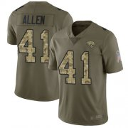 Wholesale Cheap Nike Jaguars #41 Josh Allen Olive/Camo Men's Stitched NFL Limited 2017 Salute To Service Jersey
