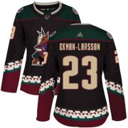Wholesale Cheap Adidas Coyotes #23 Oliver Ekman-Larsson Black Alternate Authentic Women's Stitched NHL Jersey