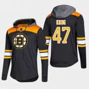 Wholesale Cheap Bruins #47 Torey Krug Black 2018 Pullover Platinum Hoodie