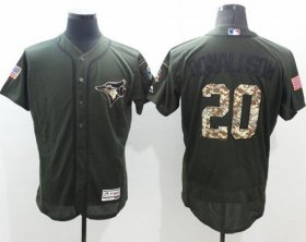Wholesale Cheap Blue Jays #20 Josh Donaldson Green Flexbase Authentic Collection Salute to Service Stitched MLB Jersey