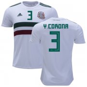 Wholesale Cheap Mexico #3 Y.Corona Away Kid Soccer Country Jersey