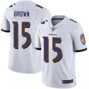 Wholesale Cheap Nike Ravens #15 Marquise Brown White Men's Stitched NFL Vapor Untouchable Limited Jersey