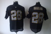 Wholesale Cheap Sideline Black United Saints #28 Mark Ingram Black Stitched NFL Jersey