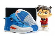 Wholesale Cheap Kids Air Jordan 12 Shoes Blue/White-red