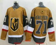 Wholesale Cheap Men's Vegas Golden Knights #71 William Karlsson Gold 2020-21 Alternate Stitched Adidas Jersey