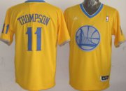 Wholesale Cheap Golden State Warriors #11 Klay Thompson Revolution 30 Swingman 2013 Christmas Day Yellow Jersey
