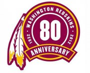 Wholesale Cheap Stitched Washington Redskins 80th Seasons Jersey Patch
